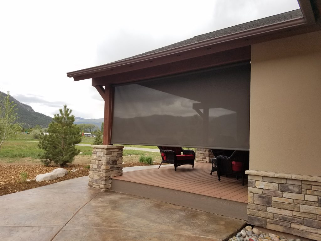 Exterior Shades | Motorized Patio sunscreens | Durango Shade CO