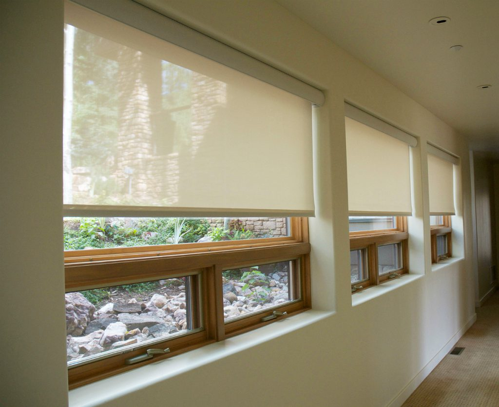 Window coverings and blinds inspiration durango shade for Electric skylight shades motorized blinds