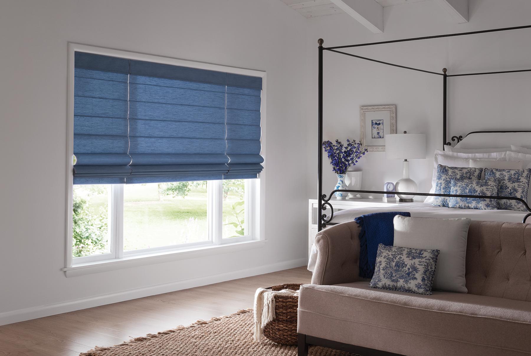 Roman shades durango co durango shade company for Z wave motorized blinds